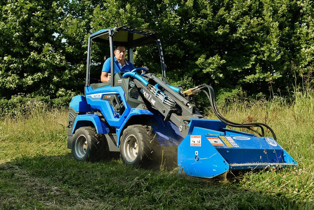 MultiOne mini loader 6 series with flail mower